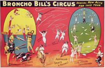 Broncho Bill's Circus, Birmingham c.1890-1910 by English School