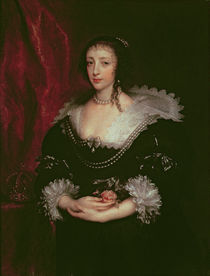 Queen Henrietta Maria , Queen consort of Charles I of England von Anthony van Dyck