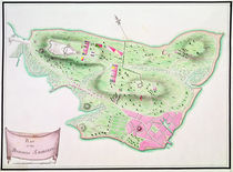 Military plan of Charlestown Peninsula by English School