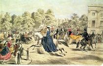 Riding in Rotten Row, Hyde Park von John Ritchie