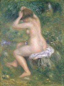 A Bather, c.1885-90 by Pierre-Auguste Renoir
