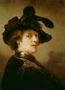 Self Portrait in Fancy Dress by Rembrandt Harmenszoon van Rijn