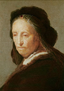 Portrait of an old Woman, c.1600-1700 by Rembrandt Harmenszoon van Rijn