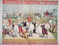 Poster advertising the Barnum and Bailey Greatest Show on Earth von American School