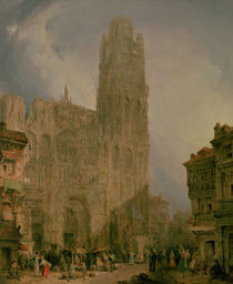 West Front of Notre Dame, Rouen by David Roberts