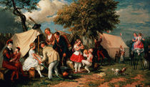 The Acrobats' Camp, Epsom Downs by William Parrott