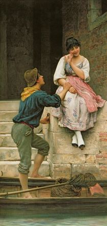 The Fisherman's Wooing, from the Pears Annual by Eugen von Blaas