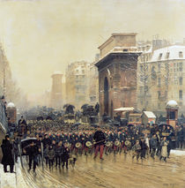 The Passing Regiment, 1875 von Jean-Baptiste Edouard Detaille
