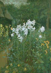 Madonna Lilies in a Garden von Walter Crane