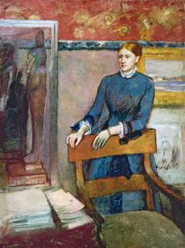 Helene Rouart in her Father's Study by Edgar Degas