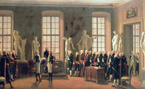 Gustav IV Adolf's visit to the Academy of Fine Arts in 1797 by Pehr Hillestrom