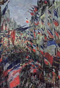 The Rue Saint-Denis, Celebration of June 30 von Claude Monet