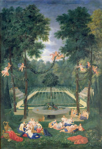 Groves of Versailles, view of the Marais with Venus and Echo by Jean the Younger Cotelle