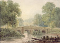 Woody Landscape with a Stone Bridge over a River by George the Younger Barret