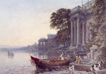 The Landing Stage by George the Younger Barret