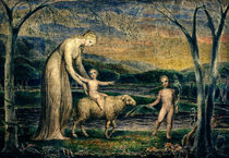 Our Lady with the Infant Jesus Riding on a Lamb with St John by William Blake