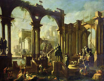 Ruins of the Baths of Caracalla by Giovanni Ghisolfi
