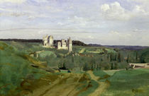 View of the Chateau de Pierrefonds by Jean Baptiste Camille Corot