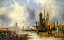 View of London with St. Paul's von John Wilson Carmichael