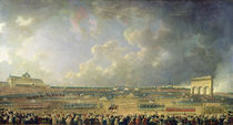 The Festival of the Federation at the Champ de Mars by Pierre Antoine Demachy