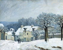 The Place du Chenil at Marly-le-Roi by Alfred Sisley