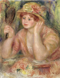 Woman with a Mirror, c.1915 by Pierre-Auguste Renoir