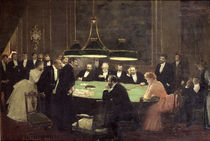 The Gaming Room at the Casino von Jean Beraud