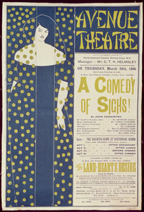 Poster advertising 'A Comedy of Sighs' von Aubrey Beardsley