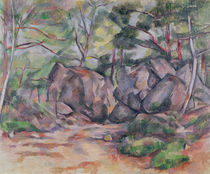 Woodland with Boulders, 1893 von Paul Cezanne