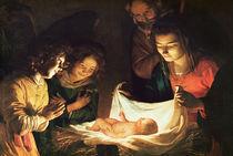 Adoration of the baby, c.1620 von Gerrit van Honthorst