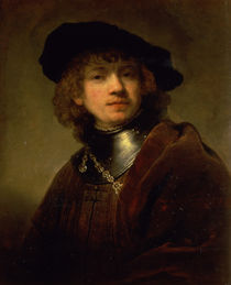 'Tronie' of a Young Man with Gorget and Beret by Rembrandt Harmenszoon van Rijn