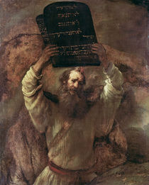 Moses Smashing the Tablets of the Law by Rembrandt Harmenszoon van Rijn