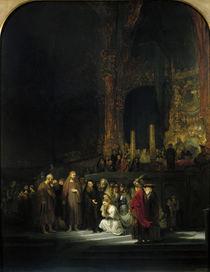 The Woman taken in Adultery von Rembrandt Harmenszoon van Rijn