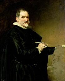 Portrait of the Sculptor, Juan Martinez Montanes 1635 von Diego Rodriguez de Silva y Velazquez