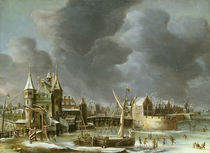A View of the Regulierspoort by Jan Abrahamsz. Beerstraten