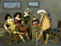 Cavaliers in a tavern by Dirck Hals
