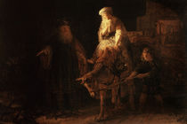 The Departure of the Shemanite Wife von Rembrandt Harmenszoon van Rijn