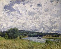 The Seine at Suresnes, 1877 by Alfred Sisley