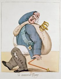 Caricature of Louis XVIII 1815 von French School