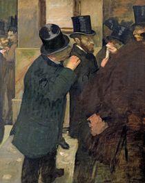 At the Stock Exchange, c.1878-79 von Edgar Degas
