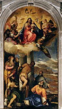 Virgin and Child with angel musicians and Saints von Veronese