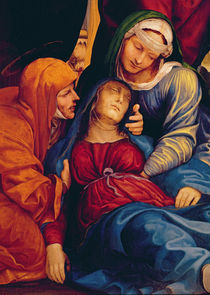 Detail of Deposition showing Madonna fainting by Giovanni Antonio Bazzi Sodoma