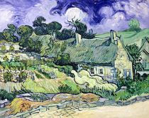 Thatched cottages at Cordeville von Vincent Van Gogh