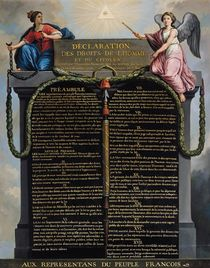 Declaration of the Rights of Man and Citizen von French School