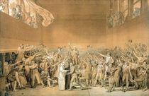 The Tennis Court Oath, 20th June 1789 von Jacques Louis David