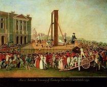 The Execution of Marie-Antoinette 16th Oct 1793 von Danish School