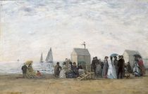The Beach at Trouville, 1867 von Eugene Louis Boudin