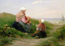 A Mother and her Small Children by Edith Hume