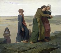 The Widow or The Fisherman's Family by Evariste Vital Luminais