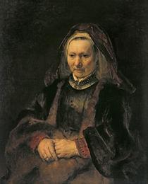 Portrait of an Elderly Woman by Rembrandt Harmenszoon van Rijn